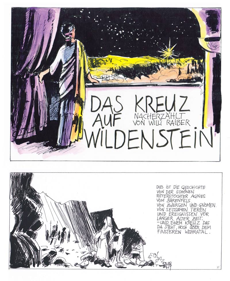 Willi Raiber Das Kreuz auf Wildenstein