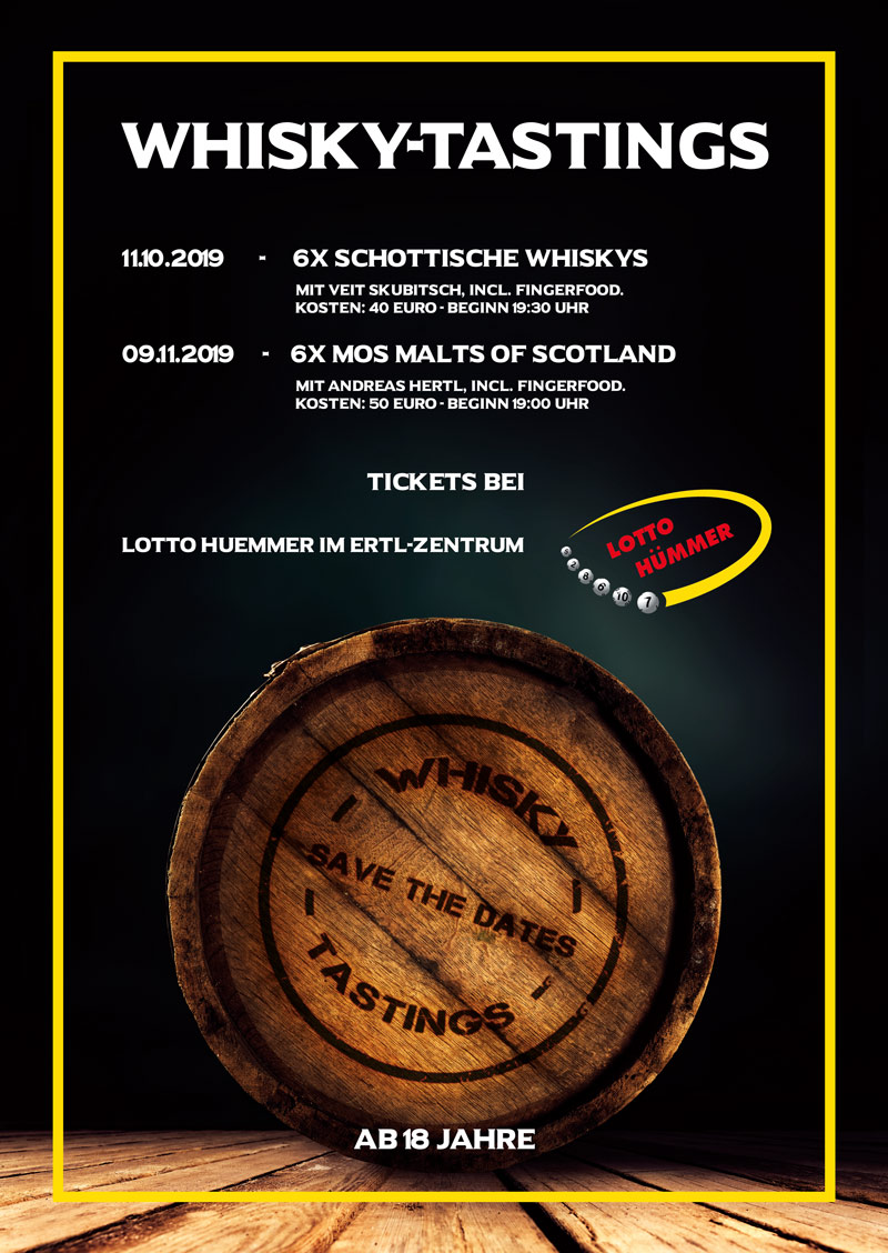 Whiskytastings - Tickets bei Lotto Hümmer