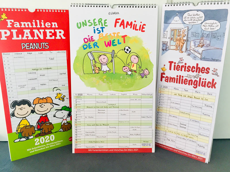 Kalender und Familienplaner 2020
