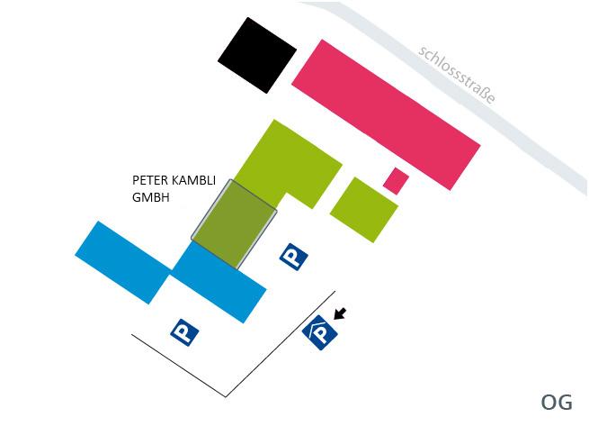 Peter Kambli GmbH - Schreibwaren, Bürobedarf, EDV-Zubehör in der Schlosspassage Grünwald - Lageplan