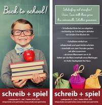 Service zum Schulanfang: Schulboxen und Büchereinbinden